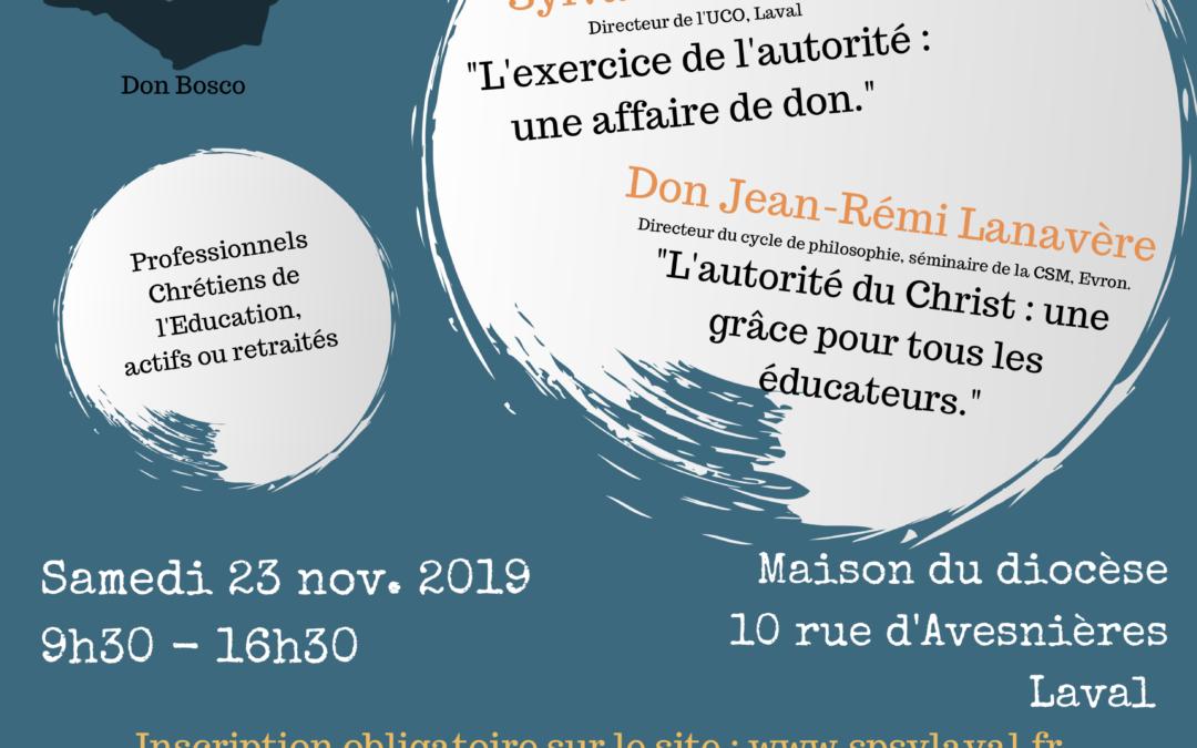 2ème Journée de rencontre et d'amitié des professionnels chrétiens de l'éducation