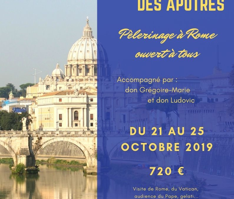 Pèlerinage à Rome du 21 au 25 octobre 2019